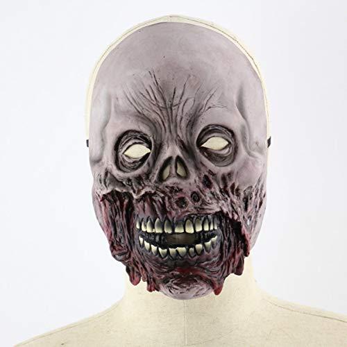 JullyeleDEgant Halloween Faul Zombie Horror Schädel Maske Weihnachten Furchterregende Latex Haube