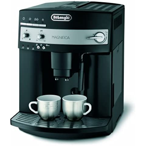 DeLonghi - Cafetera Espresso Esam3000B, Automatica, 1350W, 15 Bares, 1,8L, Caldera Extraible-Lavable, Funcion Autolimpieza, Apta Cafe Grano Y Molido. Negro.