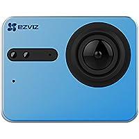 EZVIZ S5 Sport Action Camera 4k, 16 Mp, Custodia Subacquea,touch Screen, 2.4ghz, Doppio Microfono, Ingresso Scheda Sd, Processore Video Ambarella