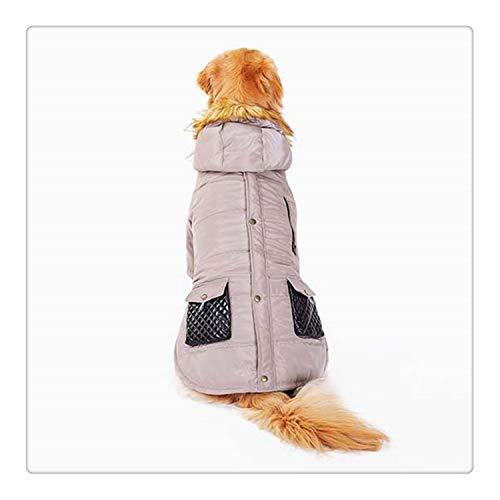 happy&live Army Green Pet Clothes Big Dog Clothes Winter Warm Down Jacket Windbreaker Large Dog Coat for Golden Retriever Beige 6XL Down Windbreaker