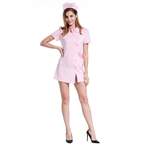 aughty Sexy Nurse Uniform Lingerie Dress Halloween Sweet Party Cosplay Costume Set(M-XL) ()