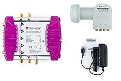 Opticum Multischalter OMS 5/4 mit Opticum Quattro LNB LRP 04 H, maximal für: 4 Teilnehmer