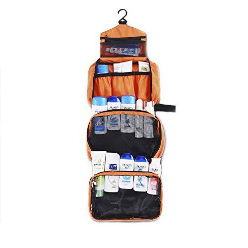 m AufhäNgen Damen, Hochwertige Waschtasche Mit Haken für Damen und Herren Wasserabweisende Kosmetiktasche für die Reise, Orange ()