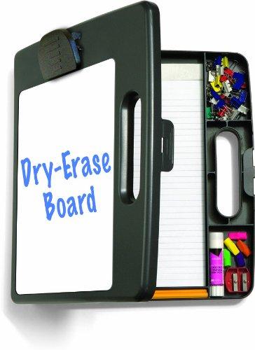 officemateoic tragbar Dry Erase Zwischenablage Box, Letter/A4Größe, anthrazit (83382)