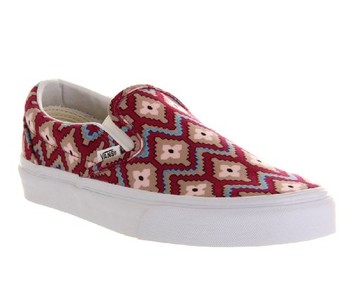 Vans U Classic Slip-on, Baskets mode mixte adulte Geometric Festival Fushcia