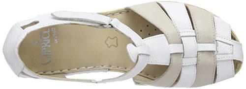 Caprice - 24551, Sandali Donna Bianco (Weiß (WHITE/GREY 125))