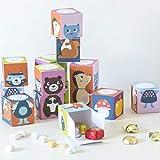 Julica Adventskalender zum Befüllen für Kinder | 24 Schachteln zum Stapeln und Spielen | Bastelset + Bonus Geschenkanhänger
