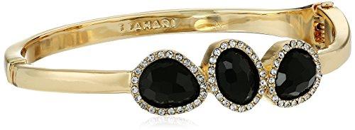 t-tahari-faceted-stone-hinge-gold-bangle-bracelet