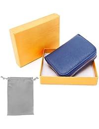 37b70aee09d30f RFID Porta Carte di Credito, Portafoglio multifunzionale, Pelle Portamonete  con Cerniera, Caso di Carte, 12 slots di per Donne Uomo,…