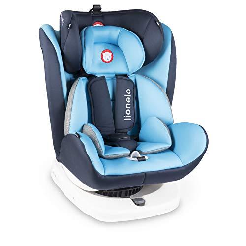 Lionelo Bastiaan Kindersitz Auto Kindersitz Isofix und Top Tether Kindersitz Drehbar um 360 Grad Autositz Gruppe 0 1 2 3 ab Geburt bis 36 kg TÜV SÜD ECE R 44 04 (Blau)