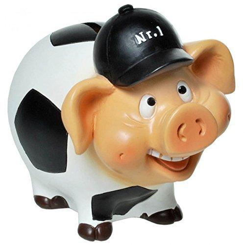 """Sparschwein,Spardose,Sparbüchse Sparschwein \""""Fußball-Schwein\"""" mit Schloß aus Polyresin"""