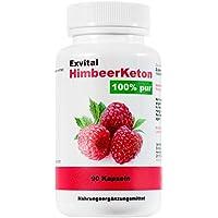 Preisvergleich für Exvital HimbeerKeton, 90 Kapseln in Premiumqualität, 100% pures Keton, Hochdosiert, 1er Pack (1x 45g)