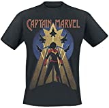 Captain Marvel Air Force T-Shirt Nero XXL