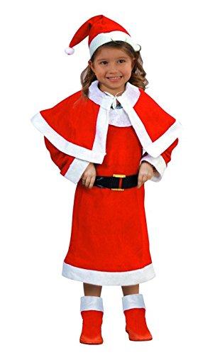 Atosa-69206 Disfraz Mamá Noel Niña Infantil, color rojo, 3 a 4 años (69206)