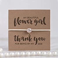 Thank you flower girl gift, Thank you for being my flower girl bracelet, Flower girl gifts, Ivory