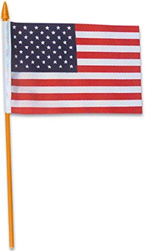 15,2cm US USA American Schreibtisch Flagge auf 25,4cm Kunststoff Dübel Dekoration ()
