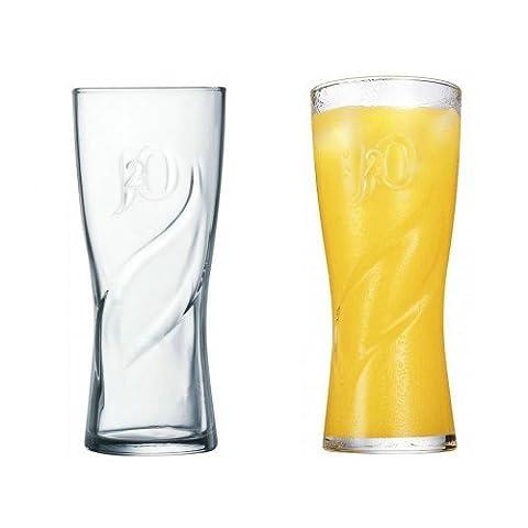 J20 Swirl Glass 12oz / 34cl - Pack of 6 glasses