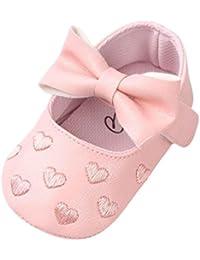 Zapatos de Bebe Niña,SMARTLADY Recien Nacidos Niña Primeros pasos Suave Zapatos de PU Cuero Antideslizante de Invierno Otoño