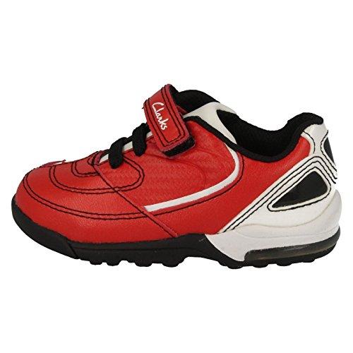 Clarks garçons Football Style Baskets Booter red