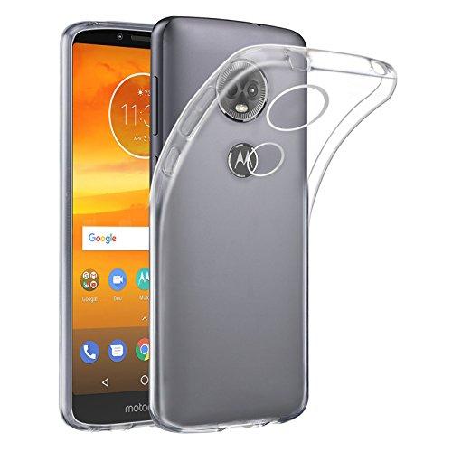 32nd Klare Gel Series - Crystal Clear Gel Ultra Dünn Schutzhülle Case Silikon für Motorola Moto E5 Plus, Durchsichtige Backcover Handyhülle TPU Hülle - Transparent