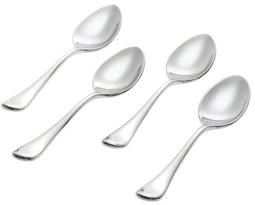 Ginkgo Firenze Spachtel, Edelstahl, 4 Stück Demitasse Spoons Ginkgo Demitasse