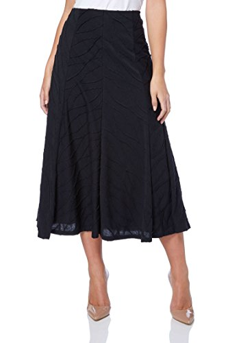 Roman Originals Women's Textured Panel Midi Skirt