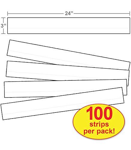 Carson Dellosa Satz Streifen, gefüttert weiß Satz Streifen (4453) (Streifen Chart Pocket)