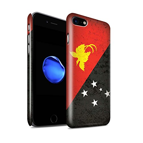 STUFF4 Glanz Snap-On Hülle / Case für Apple iPhone 8 / Samoa/Samoan Muster / Ozeanische Flagge Kollektion Papua-Neuguinea