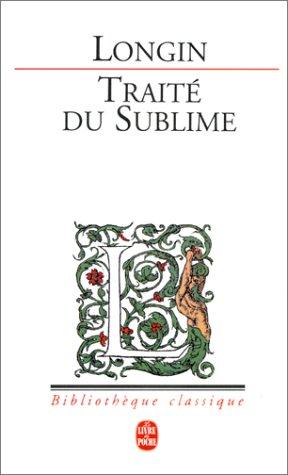 Traite Du Sublime - Traité du
