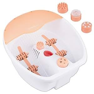 Bain spa pour les pieds avec chauffage   lampe de chauffage infrarouge   3 supports interchangeables   4 rouleaux pour les zones reflexes des pieds   bainmasseur de pied   Bain de pieds  