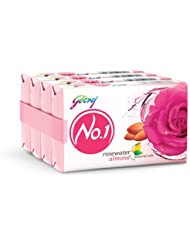 Godrej No.1 Rosewater and Almonds Soap, 100g (Buy 3 Get 1 Free)