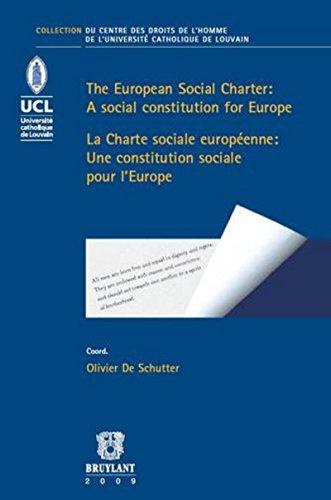 The European Social Charter/La Charte sociale européenne par Olivier De schutter