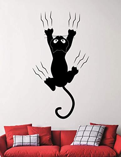 Nette Katze Silhoutte Tapete Kunst Fallen Schöne Muster Wandbild Hause Kinder Schlafzimmer Liebevolle Dekorative Vinyl Wandaufkleber Wm 54x100 cm - Fallen Wilde Für Katzen Falle