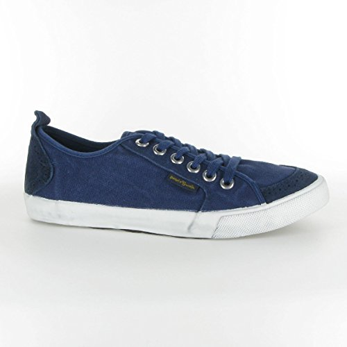 People swalk - Fly suede canvas Bleu Bleu