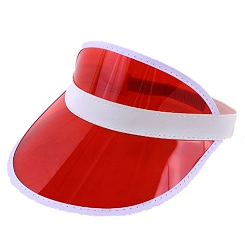 Sofias Closet Fancy Dress Viser visiera Pub/Golf Poker sole Shield Eyes 80, Rave rosso - White Golf Cap