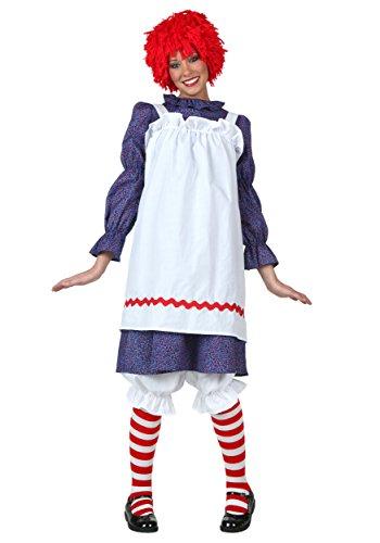 Dress Fancy Rag Doll Kostüm - Adult Rag Doll Fancy Dress Costume Medium