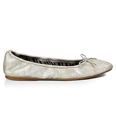 Sanuk Womens Yoga Ballet Sidewalk Surfers Footwear Size 06 Silver