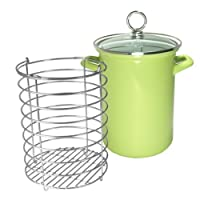 Reston Lloyd Calypso Basics Asparagus/Vegetable Pot, Lime, 3-Qt.