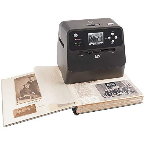 """ELV 4-in-1-Kombi-Scanner BD400 - für Fotoalben, Bilder, Dias, Negative - Vorschaudisplay 6 cm (2,4\"""")"""