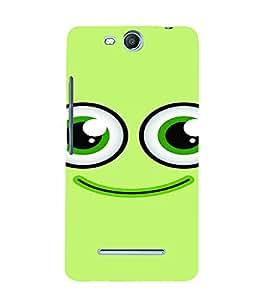 PrintVisa Cute Cartoon Smile 3D Hard Polycarbonate Designer Back Case Cover for MicromaxBoltQ338