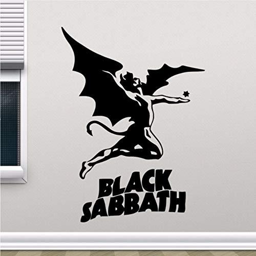 Meaosy Black Sabbath Wandtattoo Heavy Metal Rock Musik Vinyl Wandaufkleber Home Wohnzimmer Decor Removable Design Wand Kunst Wandbild 0181