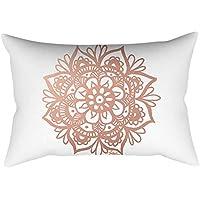 Mobast - Fundas de cojín para sofá, Almohada, diseño Cuadrado, Color Rosa y