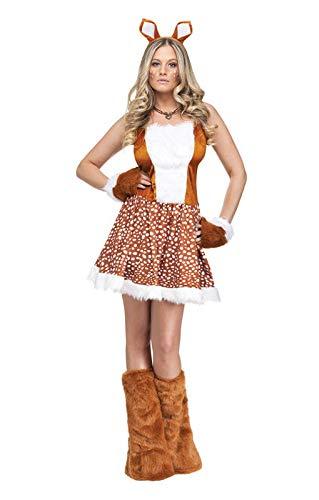 Kostüm Sexy Reh - Horror-Shop Heißes REH Damenkostüm S/M