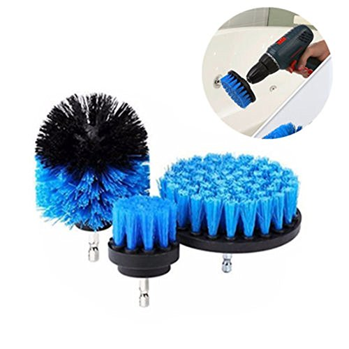 YUYOUG Bohrer Pinsel 3Pcs/Set Power Scrubber Reinigungsbürste, Reiniger Werkzeug Pinsel Tile Fugenbürste Auto Boot Wohnmobil-Reinigung Werkzeug-Zeitsparend Reinigung Kit, Blau, Einheitsgröße