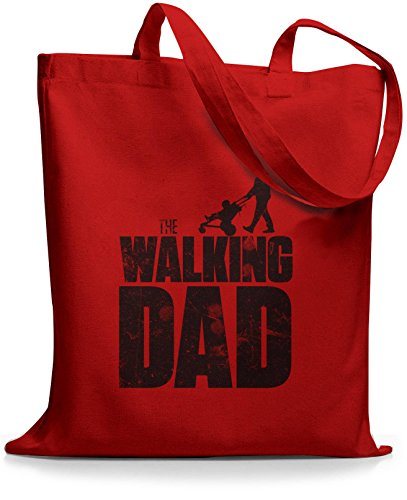 StyloBags Jutebeutel / Tasche The Walking dad Rot