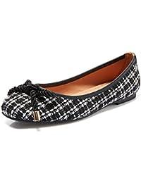 YQQ Zapatos De Tela Zapatos De Primavera Verano Sandalias Femeninas Zapatos Planos Enrejado Boca Poco Profunda...