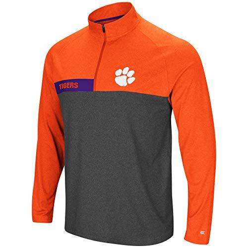 Colosseum Herren NCAA-no mercy-1/4Zip Pullover Windshirt, Herren, Clemson Tigers-Heather Orange, X-Large -