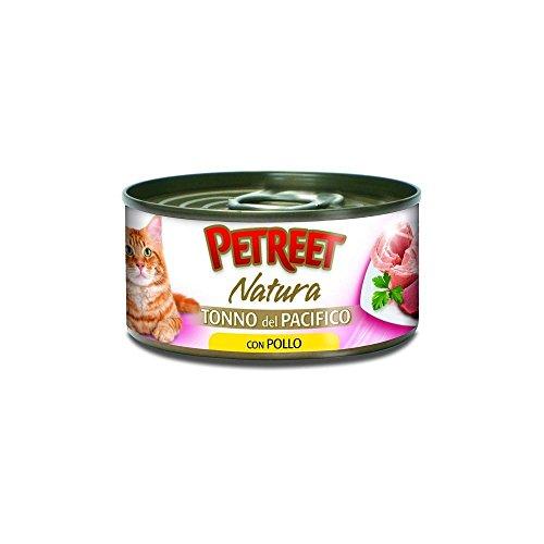 Petreet scatoletta cibo umido gatto natura tonno del pacifico/pollo 70gr