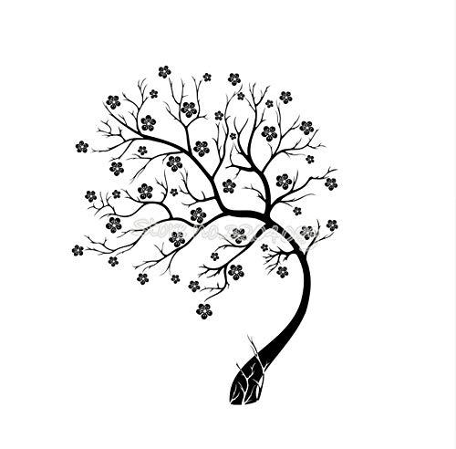 xiaoshuaige Baum In Bloom Zweig Wandtattoo Schöne Blume Wandaufkleber Ausgangsdekor Für Kinderzimmer Wohnzimmer Schlafzimmer Kunst Vinyl Wandbilder 56x72 cm (Bloom Liebe In)