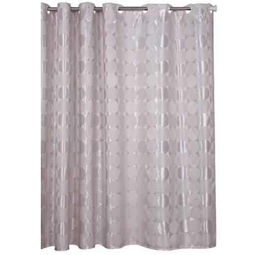 Unbekannt Duschvorhang wasserdicht Mehltau dickem Polyester Spiegel Jacquard Tuch Bad Dusche Trennkabel Breite X hoch (Size : 120 * 180cm) -